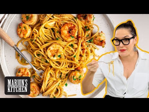 Spicy Garlic Shrimp Spaghetti - Marion's Kitchen