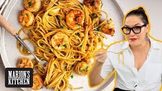Spicy Garlic Shrimp Spaghetti - Marion&#39s Kitchen