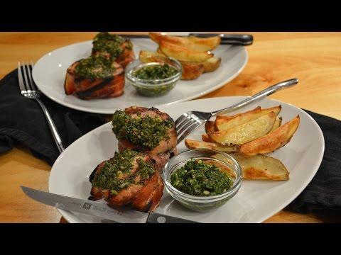 Pork Tenderloin with Chimichurri Sauce