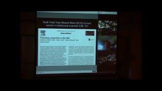 """Human Cooperation"" - David Rand (40 minute keynote address, plus 14 minutes of questions)"