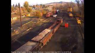 10/30/2018 Once again a ballast train heads out from Chama, NM