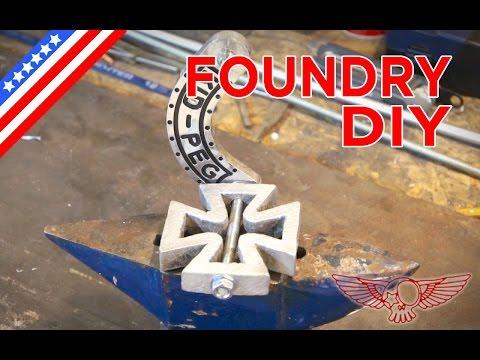 DIY Metal Foundry Project Tutorial - Casting aluminium motorcycle piece - ep 31p3 - Roma Custom Bike