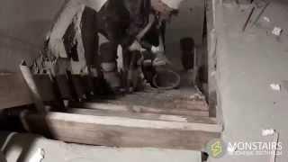 Строительство прямой бетонной монолитной лестницы(Компания MonStairs выполнила строительство прямой лестницы за 3 дня: разметка, опалубкая, армирование, бетониро..., 2015-03-10T19:36:03.000Z)