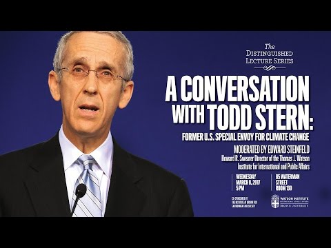 A Conversation with Todd Stern, Former U.S. Special Envoy for Climate Change
