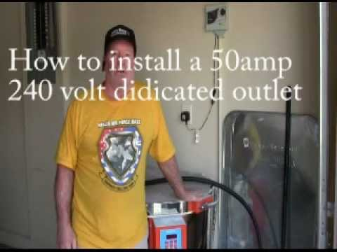 50 Amp Breaker 3 Wire Diagram Installing A 50 Amp 240 Volt Outlet 28 Youtube