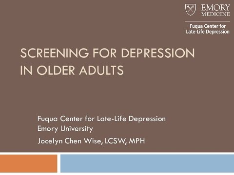Screening for Depression in Older Adults