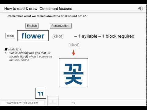 Learn Korean - Lesson 2.5_Master the sound of Hangul
