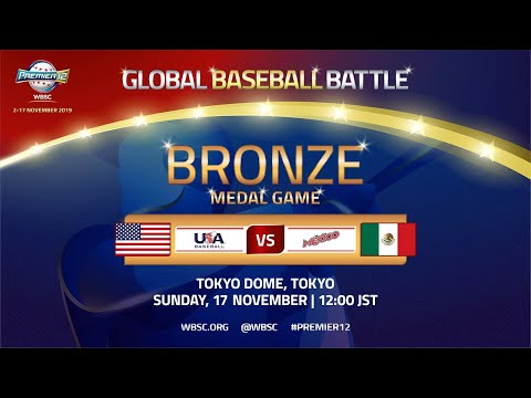 USA V Mexico - WBSC 2019 Premier12 Bronze Medal Game