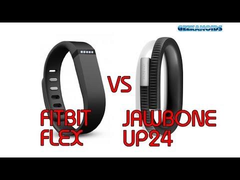 Fitbit Flex vs Jawbone UP24 - Fitness Trackers