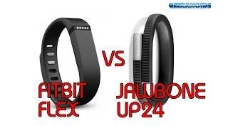 fitbit flex vs jawbone up24 fitness trackers