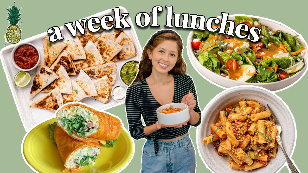 A WEEK OF *REALISTIC* VEGAN LUNCHES | 7 Easy Recipe Ideas