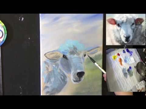 How to Paint Sheep in Acrylics Beginner Real-Time Tutorial