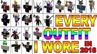Every Outfit I Wore In 2018! [ROBLOX]