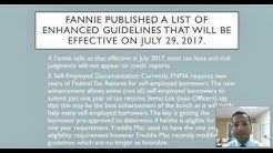 Fannie Mae enhanced guidelines effective on July 2017