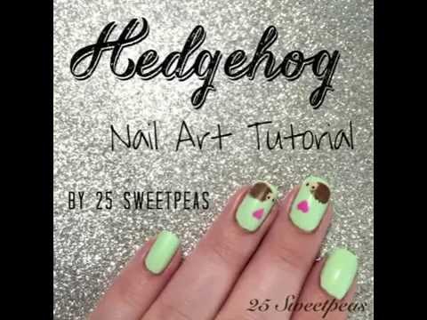 Hedgehog Nail Art Tutorial Youtube