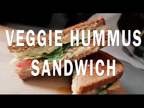 Veggie Hummus Sandwich Recipe! | VEGAN |