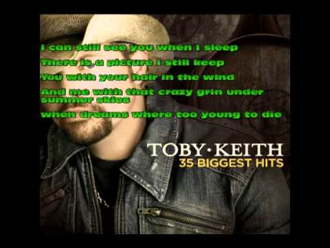 Toby Keith We were in love /wLyrics