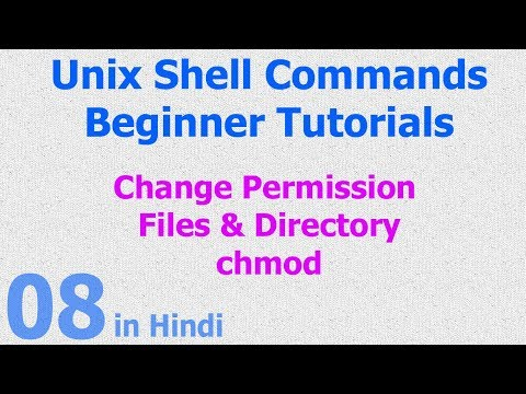 08 - Unix | Linux Shell - File | Directories Permission - chmod command
