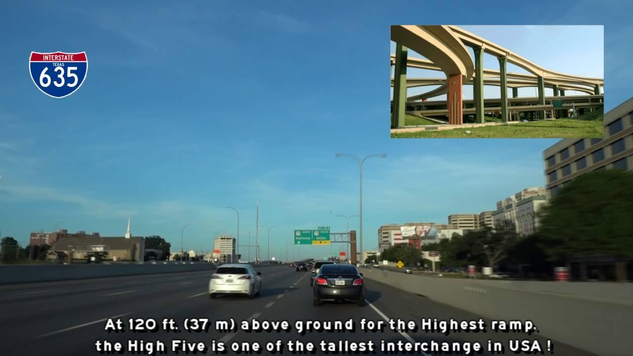 Dallas Freeway Tour, Texas - YouTube
