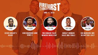 First Things First audio podcast(6.11.19)Cris Carter, Nick Wright, Jenna Wolfe | FIRST THINGS FIRST