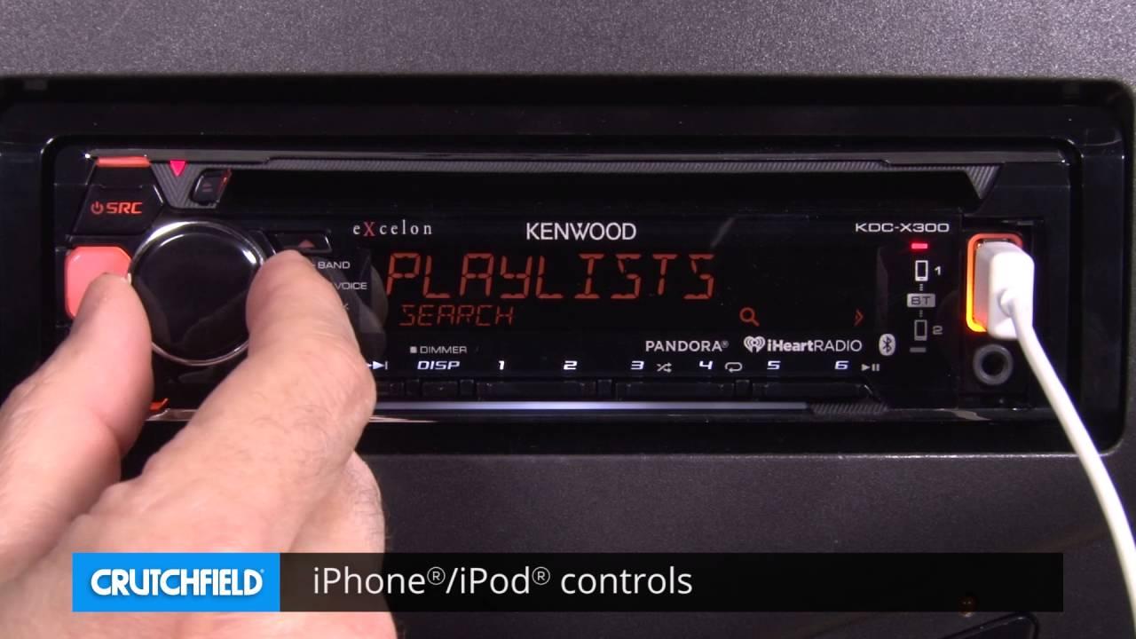 kenwood excelon kdc-x300 display and controls demo   crutchfield video