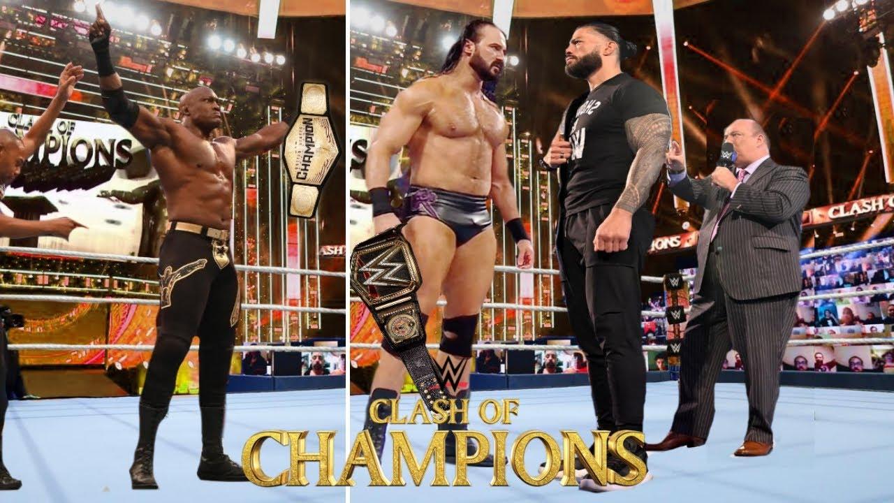 Roman reigns Wins Against Drew McIntyre - WWE Clash of Champions 2020 | Raw Vs Smackdown Comparison
