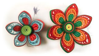Quilling Flowers Tutorial | How To Make Paper Flower | Advanced Quilling Video
