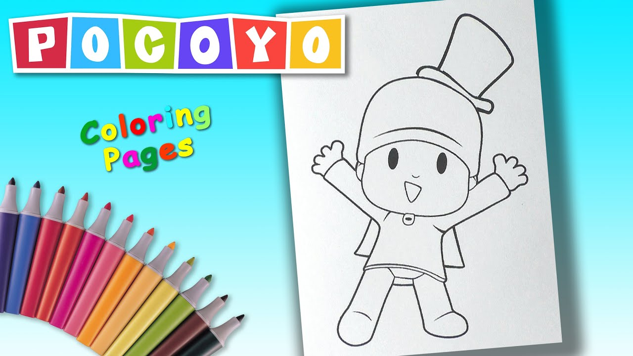 Pocoyo Coloring Pages For Kids Coloring Book For Children Youtube