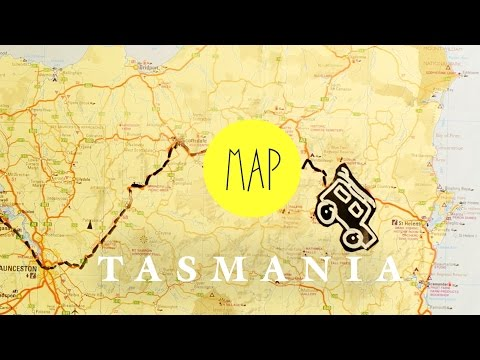 ROADTRIP MAP TASMANIA - AUSTRALIA