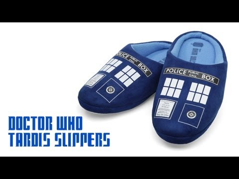 Doctor Who TARDIS Slippers from ThinkGeek