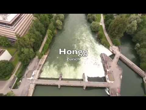 Zurich Hongg recreational area / Swimming / Europabrucke / Winzerhalde / Tuffenwies / Drone