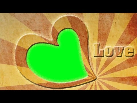 Photo Frame -  Love, Valentine's Day Greetings -  Green Screen 1