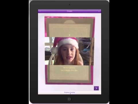 Augmented Reality student Christmas cards