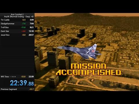 Ace Combat 2 Speedrun - World Record - 22m39s (Any% - Easy)
