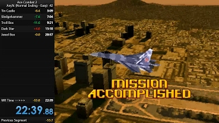 Ace Combat 2 Speedrun   22m39s Any   Emulator   Easy