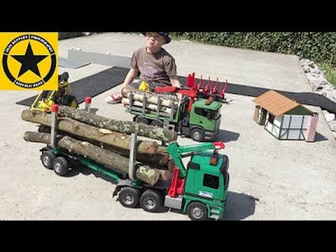 Bruder TOY TRUCKs Scania Logging-TRUCK LumberJack remix LONG PLAY!