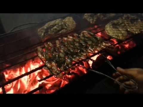 Dinner at Warung Menega Lombok fish restaurant 18 May 2013.