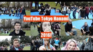 YouTube Tokyo Hanami 2016 | EVERYONE IS AMAZING! Dance-off, Shamisen, Cajon, Unicycle, Beer!