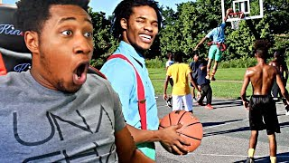 NERD PLAYS BASKETBALL IN THE HOOD REACTION! HE BROKE HIS F*#KING ANKLES! CRAZY PUT BACK DUNK!