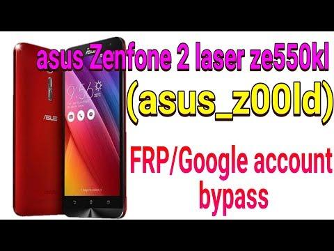 Asus Zenfone 2 Laser Ze550kl (asus_z00ld)  Frp Bypass / Google Account Bypass.