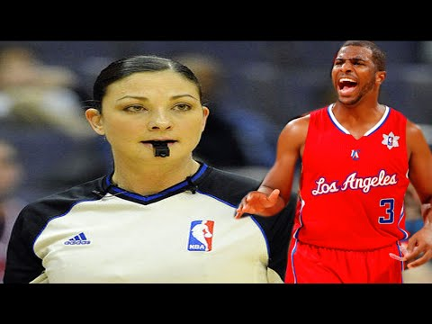 RACIST ANTI-BLACK Female Referee Lauren Holtkamp Vs SEXIST ANTI-FEMINIST Chris Paul WOW!