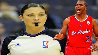 Download RACIST ANTI-BLACK female referee Lauren Holtkamp vs SEXIST ANTI-FEMINIST Chris Paul WOW! Mp3 and Videos