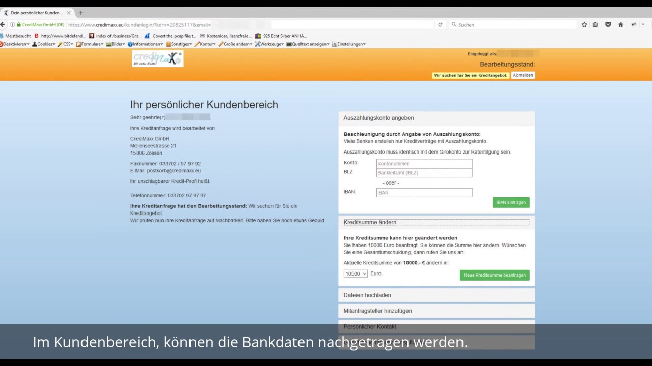Credimaxx Kreditantrag Ablauf - YouTube