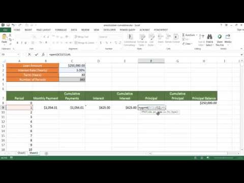 Create An Amortization Schedule With Cumulative Amounts