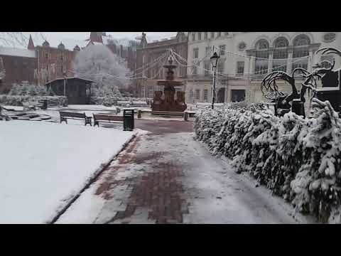 It's snowing in Leicester