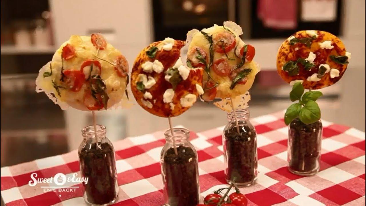 Mini-Pizza am Stiel backen  Sweet & Easy - Enie backt - YouTube