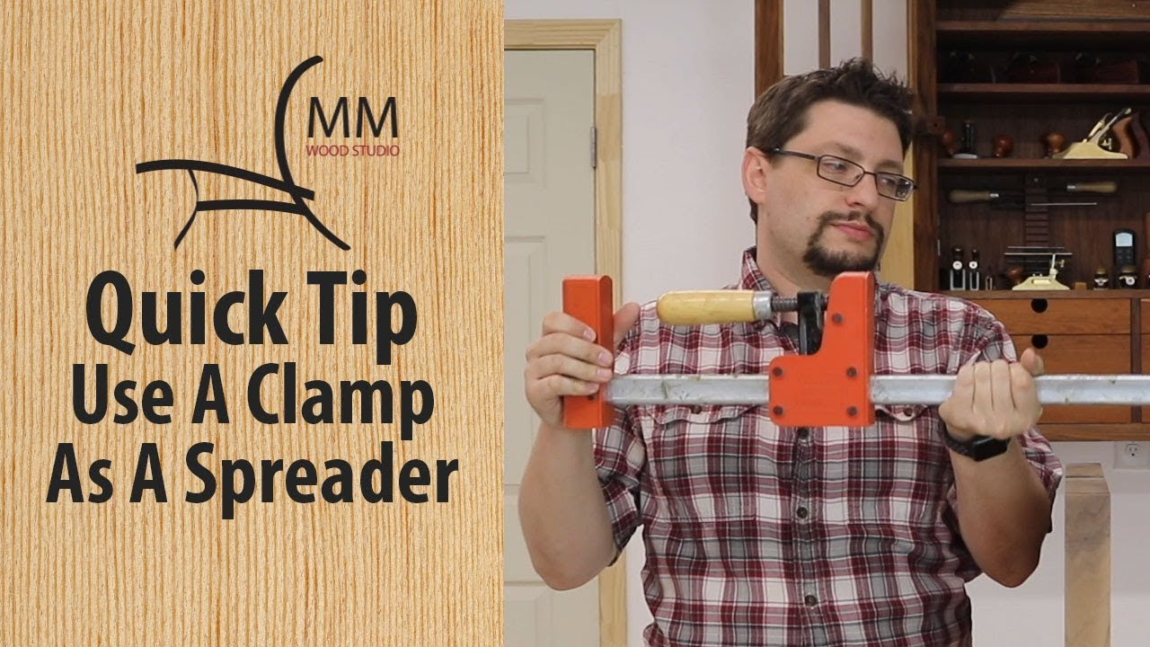 quick tip - use a clamp as a spreader