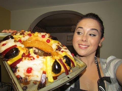 Rosca de Reyes rellena de queso philadelphia y nuez
