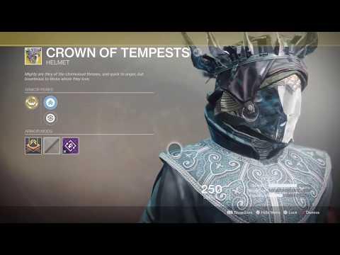 Destiny 2- Crown Of Tempests New Warlock Exotic Helmet