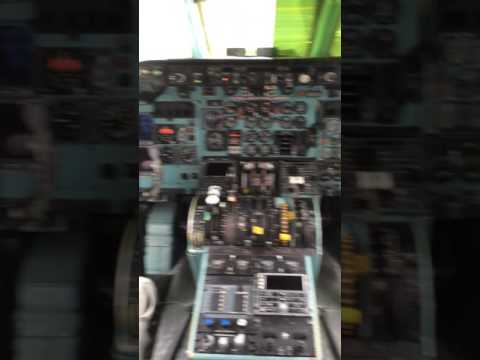 Museum in Puerto Rico American Airlines MD-82 cockpit